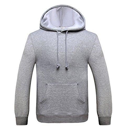 TANG Hooded Langärmelige Pullover Sport Baseball Einheitliche Farbe Warmen Pullover Grau Xxl (Platten-jugend-t-shirt)