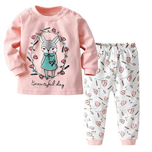 Highplus Kinder Thermo-Unterwäsche-Set warm, Rundhalsausschnitt, Schulterschnalle, Jungen Kleidung, warme Winterunterwäsche Top & Hose Set Gr. 110 cm (3-4 Jahre), hase