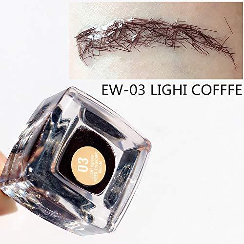 Cooljun eyebrow++ extension gel pour sourcils Extension de cheveux de cils sourcils instantanée imperméable de fibre de sourcil d'oeil 3D (C)