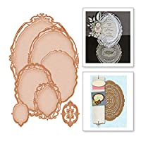 lilyshopingstore 7pcs/set Metal Die Cuts,Wedding Oval Lace Flower Dies Cut Stencils for DIY Scrapbooking Photo Album Decorative Embossing Paper Making Making Mould Template