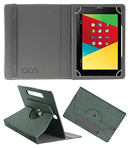 Acm Designer Rotating Leather Flip Case for Mercury M830g Cover Stand Grey  available at amazon for Rs.169