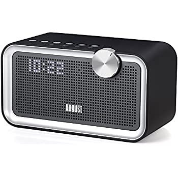 Bedside FM Radio with Bluetooth Speaker   August SE55   Enjoy Great  Sounding Music in your Kitchen  Bedroom or Lounge. DAB  Clock Radio Bluetooth Speaker   August MB400   Wake to your