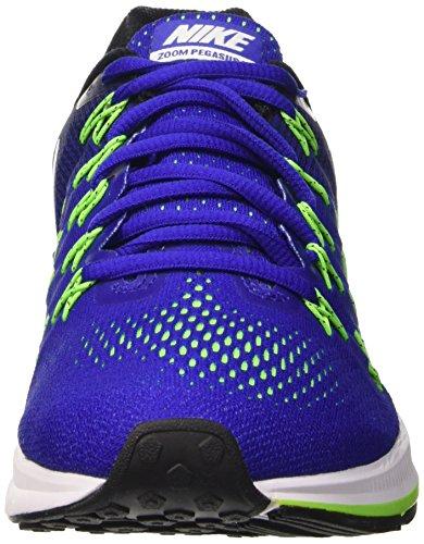 Nike Air Zoom Pegasus 33, Scarpe da Corsa Uomo Blu (Concord/White-Black-Electric Green)