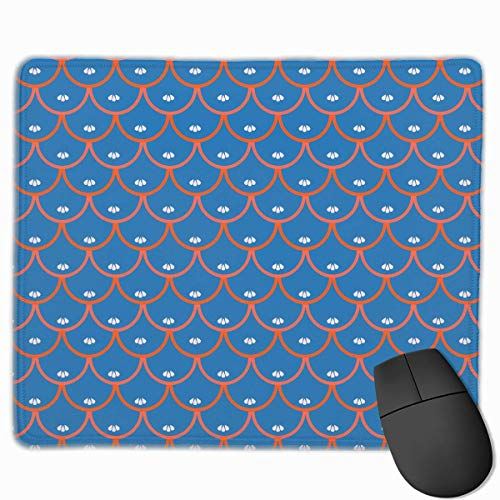 Japanese Cherry Blossom Petals Quality Comfortable Game Base Mouse Pad with Stitched Edges Size 11.81 * 9.84 Inch