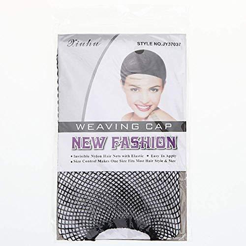 (Schwarze Kuppel Cornrow Perücke Kappen elastisches Nylon atmungsaktiv schwarzes Netz für schwarze Frauen und Männer)