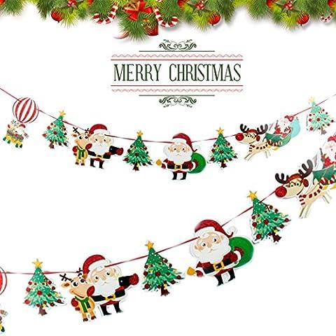 A-szcxtop Weihnachten Cartoon Schneemann Flaggen zum Aufhängen Flaggen Wimpelkette Home