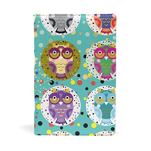 EZIOLY Bucheinband, dehnbar, Eulen-Motiv, passend für die meisten Hardcover-Lehrbücher bis 22,6 x 14,5 cm, klebstofffreier Stoff Einfach anzubringen. Wash & Re-Use
