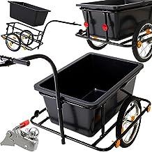 KESSER® Fahrradanhänger mit 90L Kunststoffwanne inkl. Kupplung - Lastenanhänger Transportanhänger Anhänger Handwagen