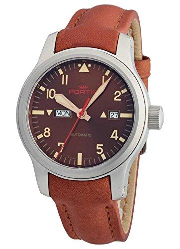 Fortis Hombre Reloj de pulsera aviatis Aero Master Dawn Fecha Día de la semana analógico automático 655.10.18l.38