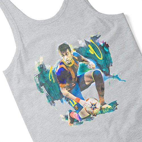 Sidney Maurer Neymar Barcelona FC Official Women's Vest Heather Grey