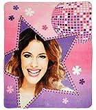 alles-meine.de GmbH Kuscheldecke / Fleecedecke -  Disney Violetta  - 110 cm * 140 cm - Decke aus Fleece - für Mädchen / Erwachsene - Schmusedecke - Martina Stoessel Channel Sch..