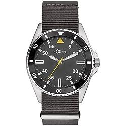 s.Oliver Herren-Armbanduhr Analog Quarz Textil SO-3130-LQ