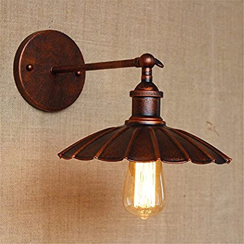 L'individualité créative simple vent industriel lampe murale corridor old vintage