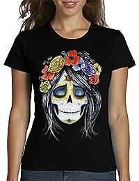 latostadora - Camiseta Catrina para Mujer 9c97e6d476eed