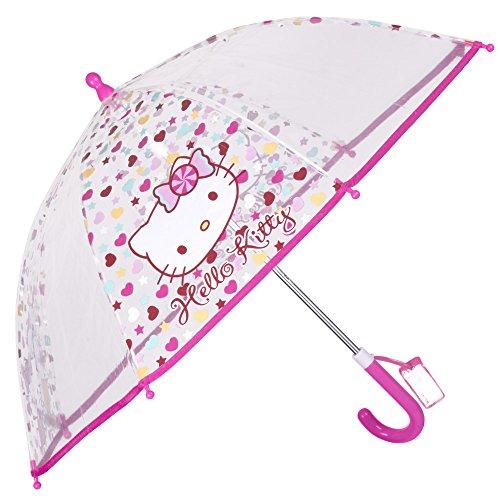 Hello Kitty Paraguas Transparente Burbuja Niña