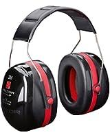 3M PELTOR Optime III Ear Muffs Headband 35 dB Black/ Red H540A-411-SV