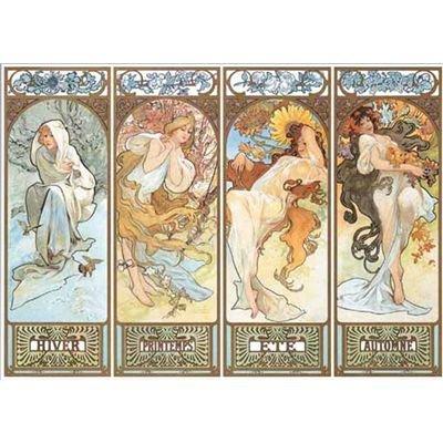 Editions Ricordi 2901N16186 - Mucha, Le Quattro Stagioni 1896, Puzzle da 1500 Pezzi