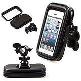 takestop® SUPPORTO MOTO WATERPROOF 5.5 INCHES 360 GRADI ROTAZIONE PORTA CELLULARE UNIVERSALE MOTOCICLETTA SMARTPHONE MP3 MP4 GPS