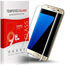 Utmury Protector de Pantalla Para Samsung Galaxy S7 Edge Ultra-trasparente Premium Protector Samsung Galaxy S7 Edge Vidrio Templado Cristal Protector Dureza de Grado 9H
