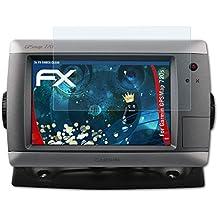 atFoliX Garmin GPSMap 720s Protector Película - 3 x FX-Shock-Clear de absorción de choques ultra claro Antichoque Película Protectora