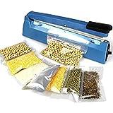 Tradico® 220V Electric Manual Bag Sealer Seal Ring Machine Food Tea Plastic Bag Heating Seal Ring Machine One Piece