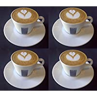 4 X Lavazza 5.5 oz Cappuccino Cups and Saucers