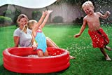 BESTWAY Planschbecken 3 Ring rot Kinder Baby Pool 122x25 cm -