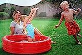 BESTWAY Planschbecken 3 Ring rot Kinder Baby Pool 122x25 cm -
