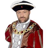 Smiffy's Men's Henry VIII Hat, Black, One Size, 24472 (US)