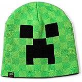 Gorro Minecraft Creeper Beanie – gorro de gran calidad – color verde intenso – para cualquier época del año – con motivo en color – doble capa – protege del frío