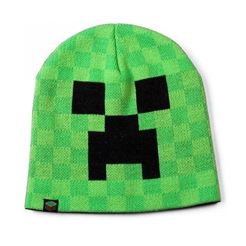 JINX Mütze / Beanie Minecraft Creeper Face, (Beanie Mütze Minecraft)