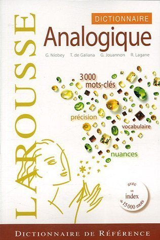 Dictionnaire analogique by Georges Niobey (2007-08-16)