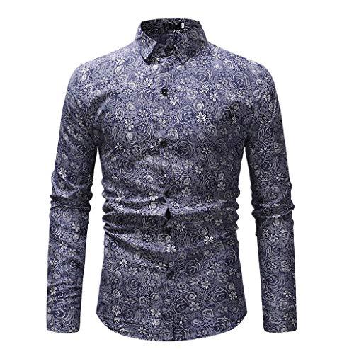 Langarmshirt Für Herren,Plus Size Langarmhemd mit Knopfleiste Resplend Lässige Lange Ärmel Muskelshirt Oberteil Freizeithemd Langarmshirt Grundlegende Bluse T-Shirt Top