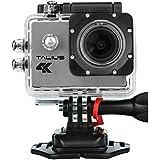 'Talius Sportcam–Digitalkamera 8MP (4K, WLAN, HDMI, 2LCD-Display, CMOS) Farbe Silber