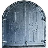 räucherei Porte de cheminée en bois porte de porte Poêle à bois en fonte de porte four four à pizza four four de porte four