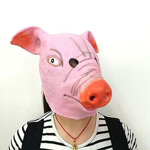 selig Schweinekopf Maske Cosplay Tierkostüm Komödie Theater prop (Schweinekopf Kostüme)