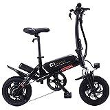 Altruism - Bicicletta elettrica Pieghevole, 250 W, 36 V, Motore e Freni a Disco, C1, Nero