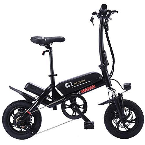 ALTRUISM -bici elettriche maschili pieghevoli 250w velocita 25 km, bici elettriche bottecchia da donna con acceleratore e Freni a Disco , C1, Nero