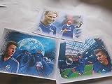 3 verschiedene, ganz tolle Kunstdrucke mit Schalke 04 Stars