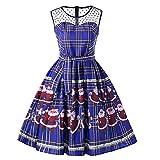 Cocktailkleider,Kleider Hochzeitsgast Damen,langes Festliches Kleid Damen,türkise Kleider Damen,1950 Rockabilly Kleid,Blau,2XL