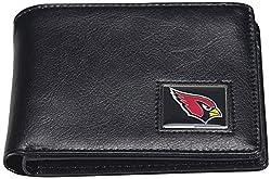 NFL Arizona Cardinals Men's Leather RFiD Safe Travel Wallet, 4.25 x 3.25