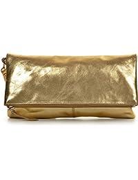CNTMP - bolso para señora, clutch, bolso clutch,bolso de cuero metálico, bolsos de tendencia, bolsas, bolso de fiesta, bolso de mano, 32 x 17 x 2, 5 cm (l x an x a)