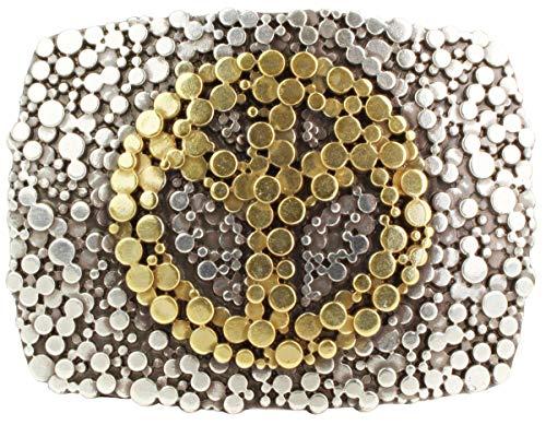 Brazil Lederwaren G/ürtelschnalle Peace 4,0 cm F/ür Wechselg/ürtel bis zu 4cm Breite Buckle Wechselschlie/ße G/ürtelschlie/ße 40mm Massiv