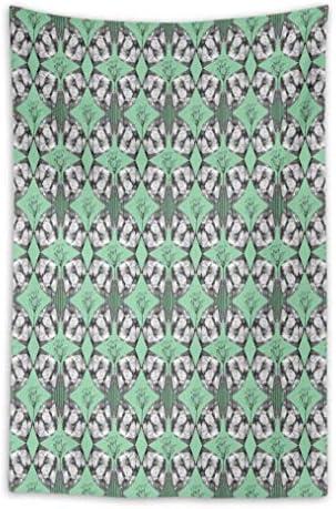 S4Sassy verde Damasco Astratto Damasco verde della Camera da Letto della Decorazione della Parete della Camera da Letto stampata58 x 92 Pollici 8948c3