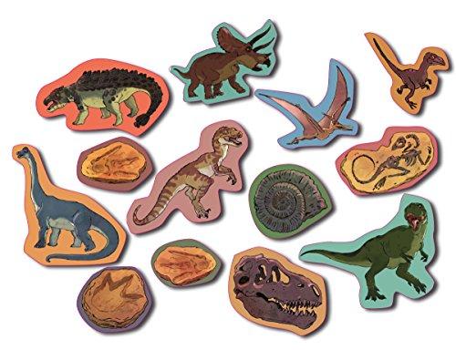 XXL-Großkonfetti * DINOSAURIER * mit 39 großen Konfetti-Teilen für eine Mottoparty oder Geburtstag // Party Kinder Kindergeburtstag Konfetti Deko Mottoparty T-Rex, Triceratops, Velociraptor, Bromtosaurier