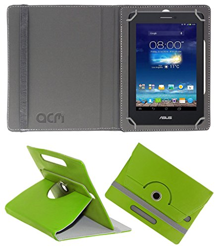 Acm Rotating 360° Leather Flip Case for Asus Fonepad 7 Me175cg Cover Stand Green  available at amazon for Rs.149