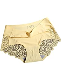 Momangel Ladies Sexy Back Lace Hollow Seamless Underwear Briefs Women  Breathable Mid Waist Pure Color Panties 170862778