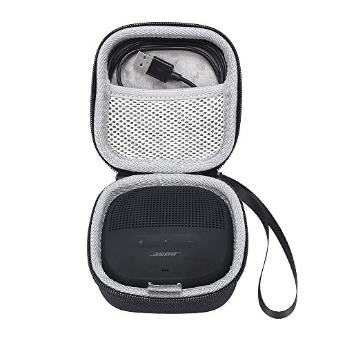 Bose SoundLink Micro Taschen & Schalen EVA Hart Fall Reise Passend für Ladegeräte und Kabel Tragen Tasche für Bose SoundLink Micro Bluetooth-Lautsprecher schwarz (Bose-lautsprecher-shop)