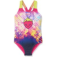 Speedo Starfizz Essential Applique Bañador 1 Pieza, niñas, Rosa (Electric Pink/Navy / Lime Punch), 3 años