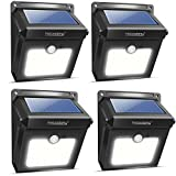 Solar Lights, Neloodony Solar Motion Sensor Security Lights 28 LED Waterproof Solar Powered Light Outdoor Lights for Garden, Fence, Patio, Yard, Walkway, Driveway (4Pack)